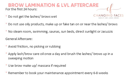 Lamination & LVL Aftercare cards